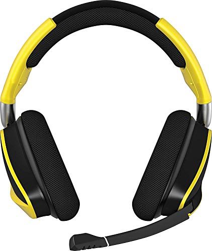 Corsair Void PRO RGB Gaming Headset (PC, USB, Wireless, Surround, Dolby 7.1), Farbe:Gelb (Yellow), Serie:Wireless Special Edition