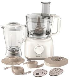 Philips Daily Collection HR7628/00 650-Watt Mini Food Processor (White)