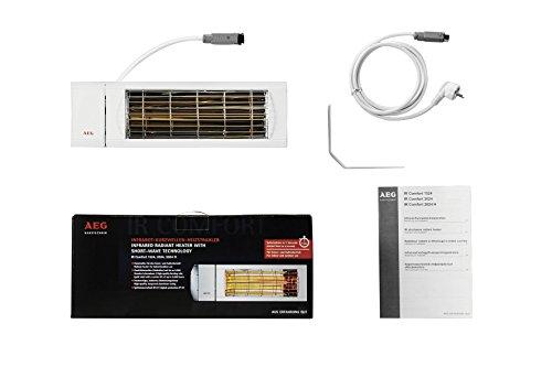 AEG Kurzwellen-Heizstrahler IR Comfort 2024 H mit Hirschmannstecker, 2000 W, hocheffiziente Qualitäts-Goldröhre, 229955 - 3