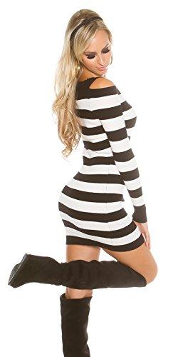 KouCla - Robe - Femme Schwarz/Weiß