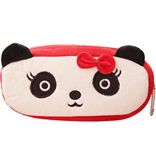pengyu Süße Wassermelone Frosch Panda Kaninchen soft Bleistift Pen Fall Make-Up Tasche Phone Bag 21cm x 12cm (Kaninchen Up Make)