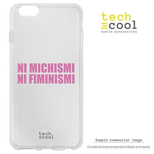 Funnytech® Funda Silicona para iPhone 8 Plus [Gel Silicona Flexible, Diseño Exclusivo] Frase Meme Feminismo machismo Humor Fondo Transparente