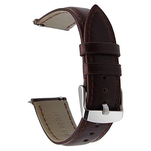 TRUMiRR 18 millimetri cinghia di cavallo genuino in cinturino di rilascio rapido per Huawei Watch 1 / Fit Honor S1, Asus Zenwatch 2 Donne 1.45 '' WI502Q, Withings Attivo/Pop / Steel HR 36mm