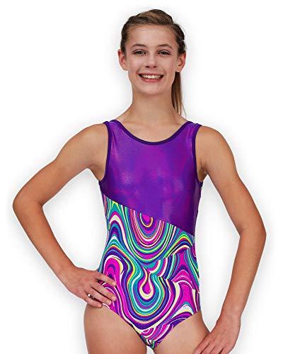 Leap Gear Gymnastik Trikot 12 | Erwachsene Kleine Switch/Lila Twister (Lila Trikots Für Erwachsene)