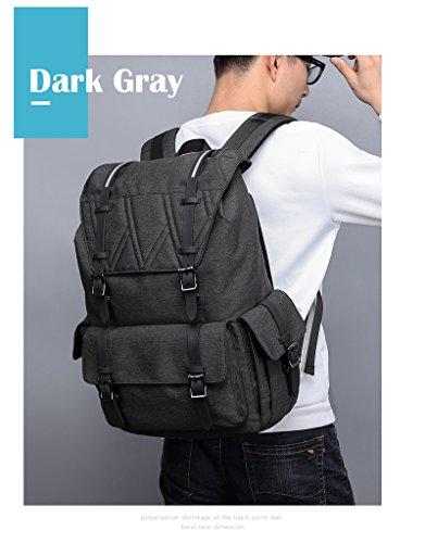 """MOCA Canvas 15.6"""" Black Laptop Backpack Image 7"""