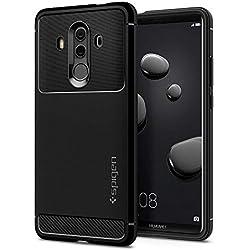 Spigen Coque Huawei Mate 10 Pro, [Rugged Armor] Anti Choc Souple TPU [Noir] Fibre de Carbone Resistant, Coque Etui Housse pour Huawei Mate 10 Pro (L19CS22665)