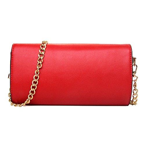 Femmina Stile Cinese Borsa Moda Elegante Borsa A Tracolla Red