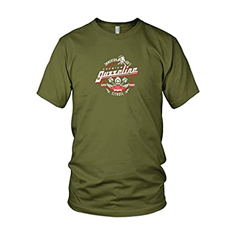 Immortan Joe's Premium Guzzeline - Herren T-Shirt, Größe: M, Farbe: army