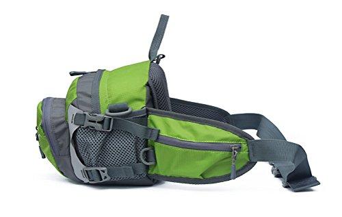 Outdoor peak Unisex Nylon wasserdicht Gürteltasche Multifunktions-Tasche Kameratasche Reiserucksack Kettle Paket Tagetasche mit Schultergurt Halstuch Fahrrad Bergsteigen() Grün