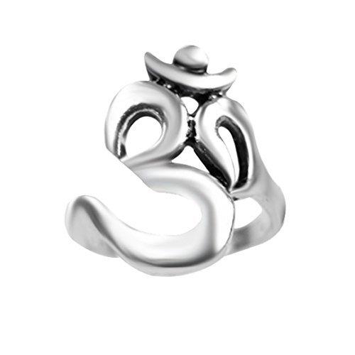 Oxforder Türkis Tribal Ethnic antik silber Ton Kostüm Schlagring Ring. Verschiedene Designs. Ohm Schlange Elefant Dreieck Symbol Türkisch Bohemian Steampunk-dojore (Türkis Kostüm Schmuck Uk)
