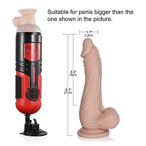Utimi Vagina Cup Masturbatoren Pussy Oral Masturbator mit Vibration Vibro Muschi Handfrei Transformator für Männer - 6
