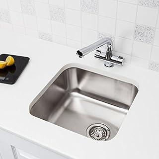 Undermount Stainless Steel Kitchen Sink Single Bowl & Modern Chrome Mono Tap