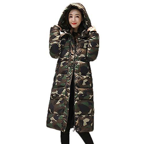 Zolimx Camouflage Lange Baumwolljacke für Damen, Frauen-Winter-warme Druck-Mantel Baumwolle Parka Slim Jacke Feste Pullover Oberbekleidung - Mantel Peak Frauen