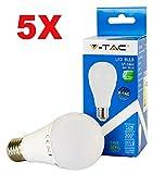 V-TAC 5-juego de 4228 12 W E27 LED de bombilla de una bombilla de 100-240 V, ledes SMD de 3000 K, luz de 1055 lm, ángulo de haz de 200 nivel, intensidad no regulable, luz blanca cálida VT-1864