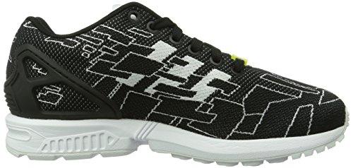 adidas Originals ZX FLUX WEAVE Textile Unisex-Erwachsene Sneakers Schwarz (Black 1 / Running White Ftw / Onix)