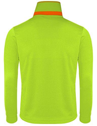 BCPOLO Herren Sportswear Polo Shirt Funktionsfreizeithemden L-Gelb