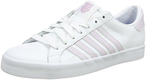 K-Swiss Damen Belmont SO Sneaker, Weiß (White/Gray Lilac Stripes), 42 EU
