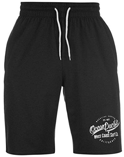 mens-branded-ocean-pacific-large-printed-logo-fleece-shorts-bottoms-medium-black