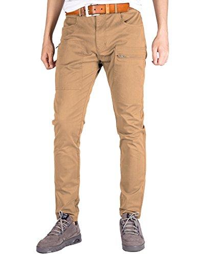 Italy Morn Herren Chino Designer Hose Casual Stoff Hose Chinohose Cargo Hose Slim Fit Khaki