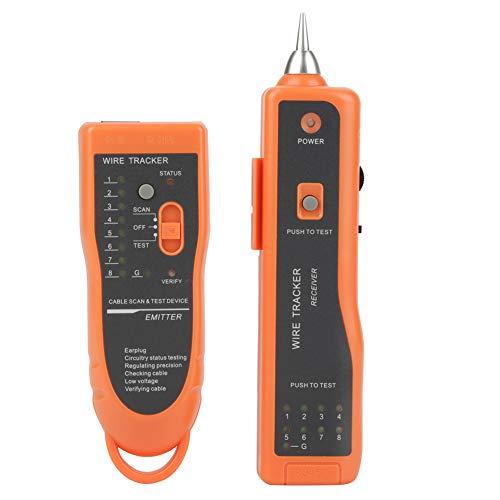 Akozon Kabel Tester XQ-350 LAN Network Cable Tester RJ11 RJ45 Line Finder Wire Tracker Multifunktionskabel Check Wire Messgerät für Netzwerk Wartung Collation, Telefonleitungstest, Kontinuitätsprüfung -