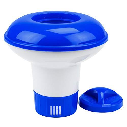 RoadRoma Dispensador Flotante de tabletas de plástico químico Piscina de Soporte de tabletas de bromo