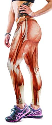 s mehrfarbig kürbis M Gr. M, Muscle lines (Leggings Halloween)