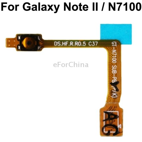 eForChina High Quality Power Button Flex Cable for Samsung Galaxy Note II / N7100