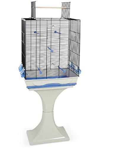 M.O.Gabbia per Uccelli Canarini Budgie con Stand & Trespolo