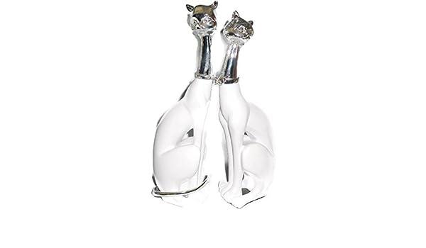 da037a85f473 Buy Indian Decor Company Polyresin Cat Pair (H  25 cm