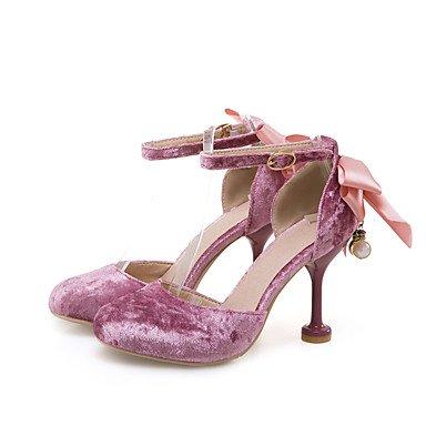 LvYuan Da donna-Sandali-Ufficio e lavoro Formale Serata e festa-Altro-A stiletto-Felpato-Rosa Rosso Beige beige