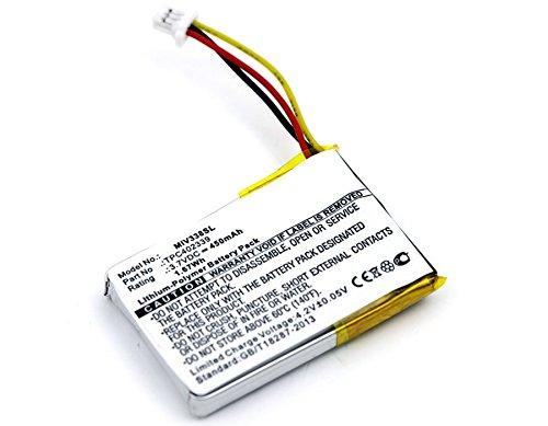 subtel Qualitäts Akku für Mitac Mio Mivue 338 Mio Mivue 358P Mio Mivue 366 Mio Mivue 368 Mio Mivue 388 Mio Mivue 658p Papago F210 (450mAh) TPC402339 Ersatzakku Batterie