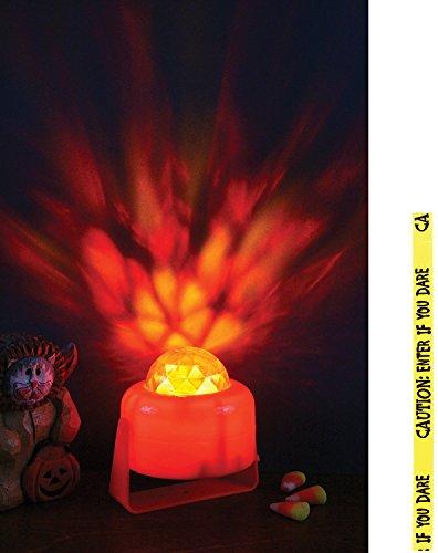 Potomac Banks Bundle: 2Produkte-Flaming Kürbis Licht und Gratis Caution Tape zufällig gewählt (Orange Halloween-lichter Amazon)