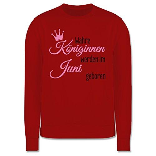 Geburtstag - Wahre Königinnen werden im Juni geboren - Herren Premium Pullover Rot