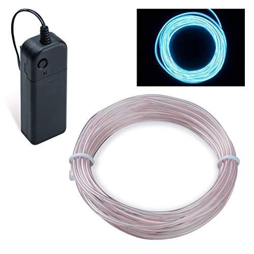 Lysignal Wasserdicht Flexibel 5M 15 FT Neon Beleuchtung Lichtschlauch Leuchtschnur EL Kabel Wire mit 3 Modis für Disco Party Kinder Halloween Kostüm Kleidung Weihnachtsfeiern (Bedeckten ()