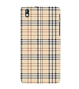 Fiobs Designer Back Case Cover for HTC Desire 816 :: HTC Desire 816 Dual Sim :: HTC Desire 816G Dual Sim (Lines Straight Colorful White Cloth)