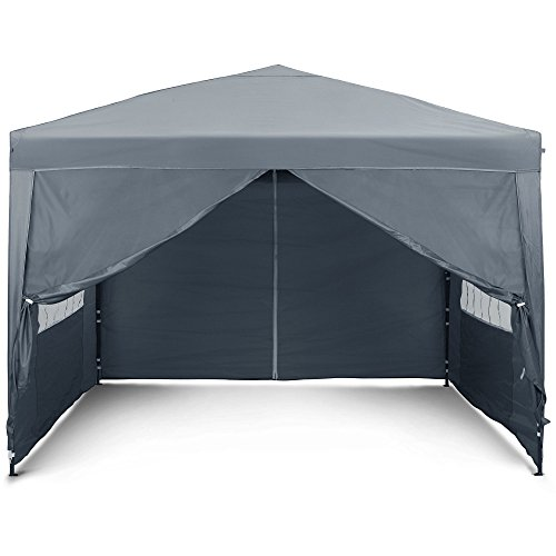The gazebo comes with self-fill sandbags that are used as weights to stabilise the unit, there are also 7 pegs supplied to help you secure the tent to the ground. Because it is a pop up gazebo, the gazebo can be collapsed and stored with the roof still on. Make use of the 2.5 X 2.5m carriage bag provided to make transportation and compact storage possible.