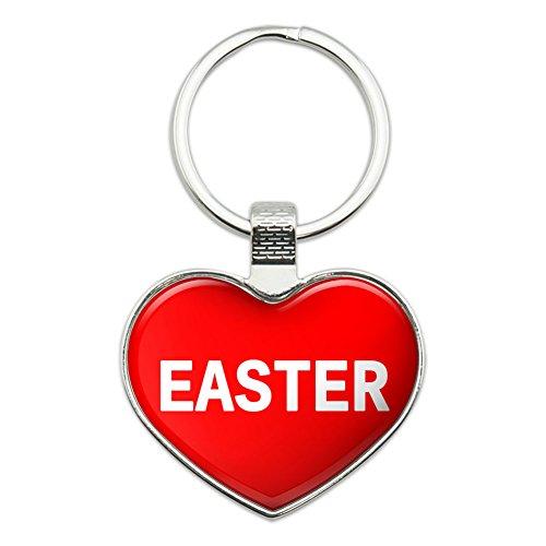 Metal Keychain Key Chain Ring I Love Heart Name E-I