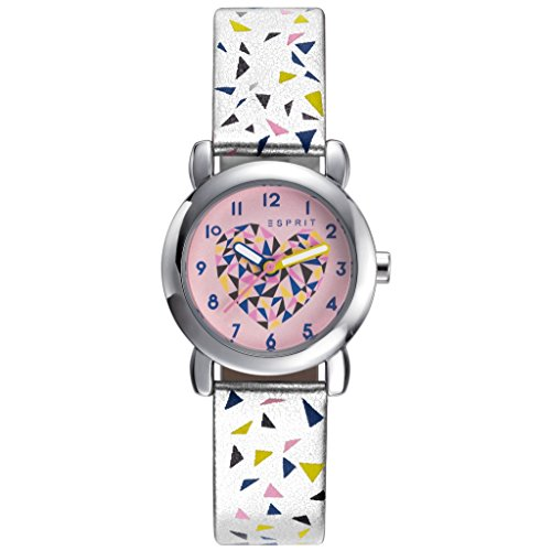 ESPRIT ES906494008 Esprit TP90649 Silver Triangle Analog Girls 'Watch Plastic Metal 3 Bar Silver