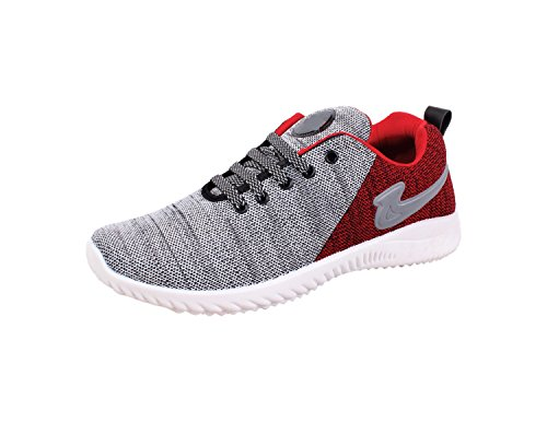 SKYMATE Red Lite Weight Sport Shoes for Boys(7yrs-15yrs), Size-2 UK