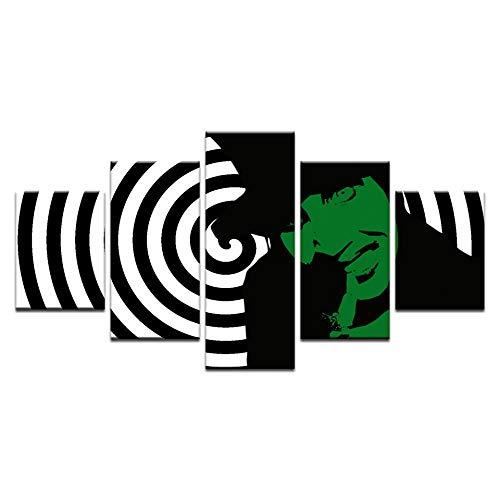 xkkzka Ohne Rahmen5 Stücke Marilyn Manson Design Leinwand Kunstdruck Heavy Metal Sänger Malerei Abstrakte Poster Wandkunst Bild Für Schlafzimmer Wohnkultur-B