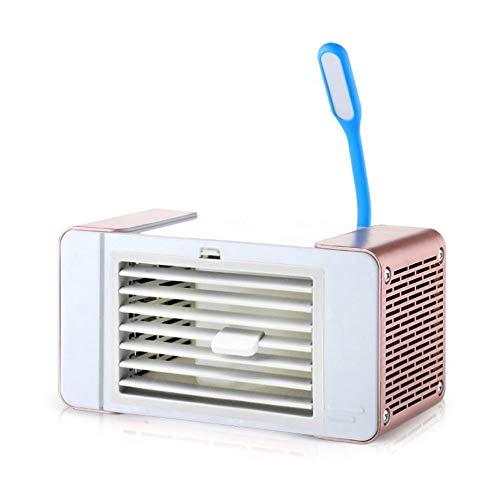 YSZDM Climatizzatore Space Space Personale, Mini condizionatore d'Aria Portatile con Piccola Lampada da Tavolo per la Camera da Letto di casa all'Aria Aperta,Pink