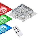 Deckenleuchte mit LED Farbwechsler und Fernbedienung