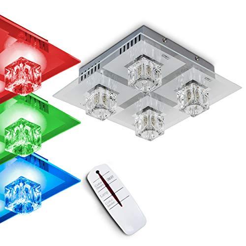 Deckenleuchte Ferrera mit LED Farbwechsler und Fernbedienung