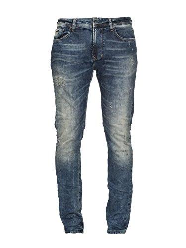 M.O.D Herren Slim Jeans Cornell Blau (Portugal Blue Destroyed 1585)