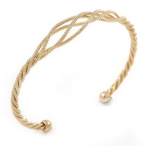 gold-ton-texturierte-twisted-manschette-armband-verstellbar