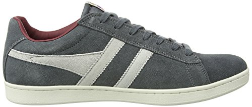 Gola Equipe Suede, Sneakers Basses Homme Gris (Graphite/white/burgundy Gw)