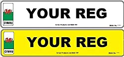 Hiltek Pair Welsh Mot Road Legal Car Van Reg Registration Number Plates 2x Std-welsh-np, Ncs-100