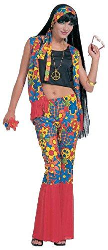 Widmann 35261 Erwachsenenkostüm Hippie, (Für 80er Ideen Kostüm Frauen)