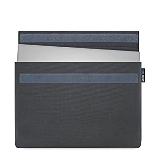 Adore June 13.3 inch case [classic series] specially designed for Dell XPS 13 2018, 2017, durable fabric sleeve case, Dell XPS 13, touch, non-touch, 2-in-1, 2015-2018 case [anthracite]