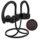 Mpow Wireless Headphones Bluetooth, Up to 9 Hrs Playing Time IPX7 Waterproof Running Headphones In-ear Earbuds for Gym Cycling Workout iPhone,iPad,Samsung, Siri with Built-in Noise Cancelling Mic